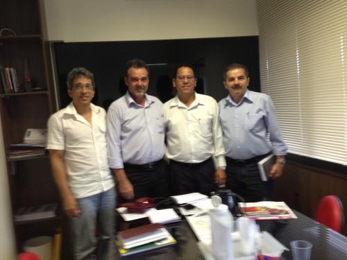 Jerry, Daniel Almeida, Rosenildo e Gilson de Jesus em reunião recente na capital do Estado.