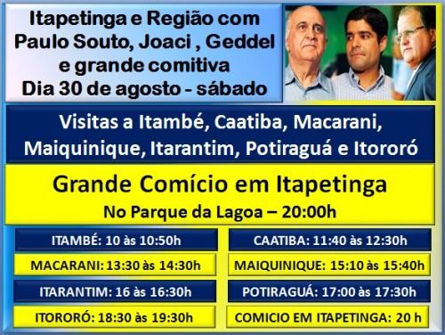 Banner Paulo Souto na Estrada - Itapetinga