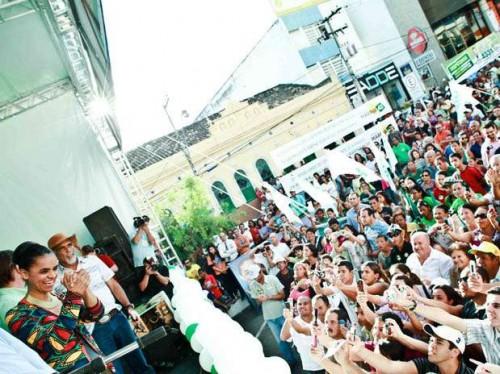 Em 2010 Marina Silva realizou grande comício em Vitória da Conquista. Fomos lá conferir.