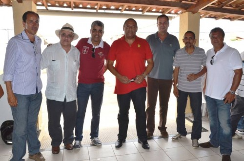 Deputado Josias Gomes ao lado de Marcos Gabrielli e diretores da Vita Ambiental e Ethos Construtora.