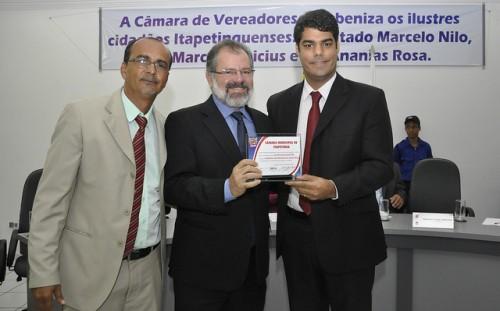 O presidente da Assembléia Legislativa da Bahia, Marcelo Nilo (PDT), é a aposta do vereador Valdeir, para validar a eleição antecipada que o elegeu presidente da câmara em abril.