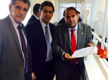 Deputados Herzem Gusmão, Sandro Regis e Leur Lomanto deram entrada na ADIN, no Tribunal de Justiça da Bahia.