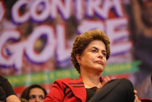 "São Paulo 23/08/2016 Presidente Dilma durante  ""  Ato Contra o Golpe""  organizado pelo  ""Povo  Sem Medo"" na Casa de Portugal. Foto Paulo Pinto/AGPT"