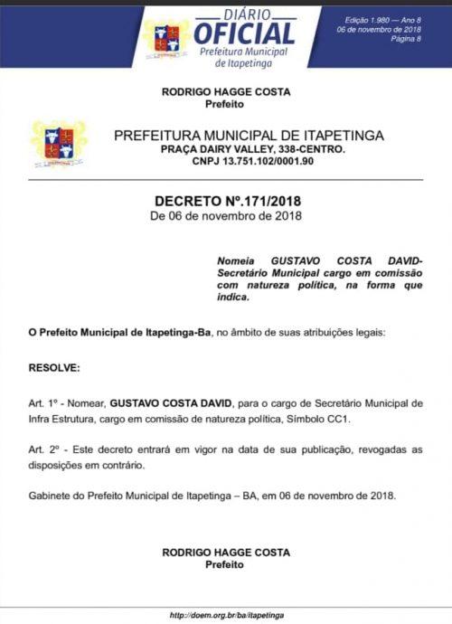 gustavo-500x690 PREFEITO RODRIGO HAGGE EXONERA E REMANEJA SECRETÁRIOS MUNICIPAIS Região